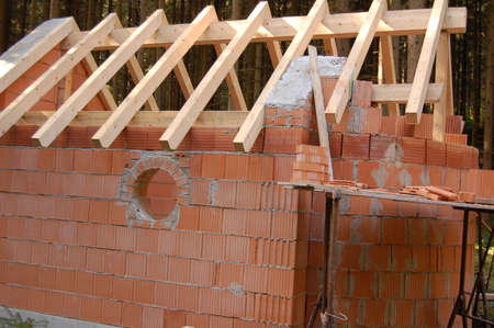 roof framework: the roof framework Stock Photo