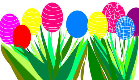 a lot of colored easter eggs
