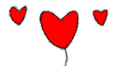 heyday: the hearts on white background Stock Photo