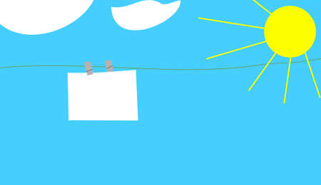 the clothesline under the cloud