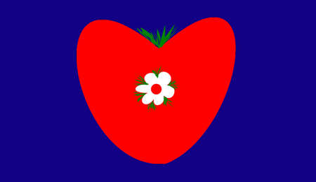 heyday: the heart and flower on it Stock Photo