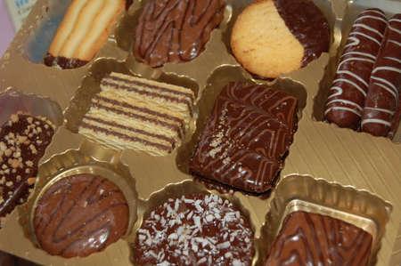 cookies in the box Zdjęcie Seryjne