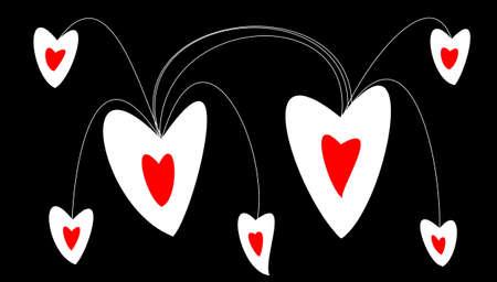 a lot of hearts on black background Zdjęcie Seryjne