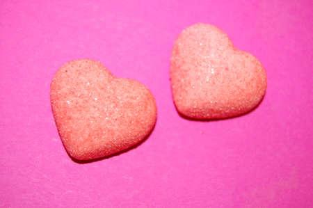 hearts on pink background Zdjęcie Seryjne