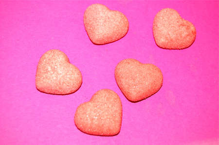 a lot of hearts on pink background Zdjęcie Seryjne