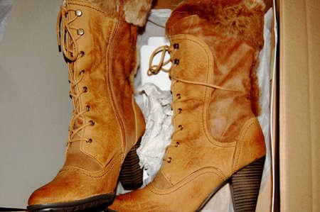 two boots in the box Zdjęcie Seryjne