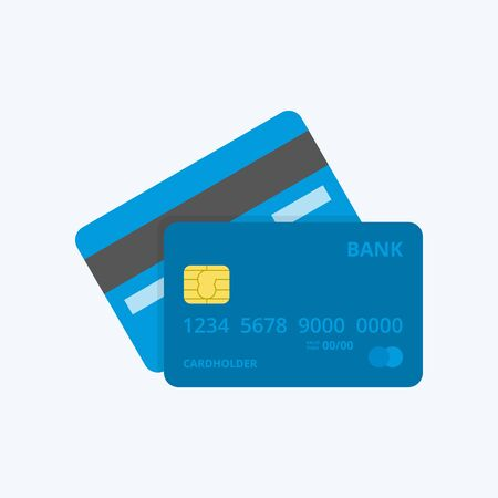 Credit Card Icon. Front and Back.