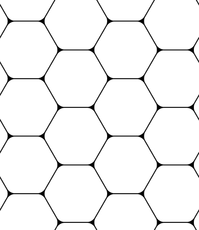 Seamless pattern with hexagons. Black and white geometric background.