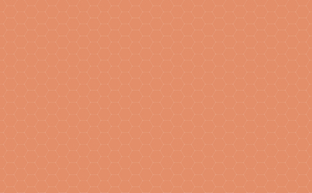 Vector Geometric background with Hexagons. Soft orange geometric background.