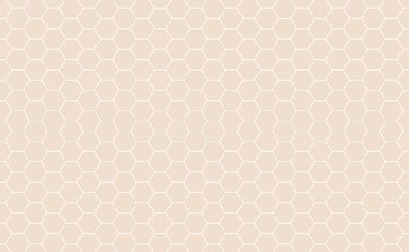 Vector Geometric background with Hexagons. Light orange geometric background. 일러스트