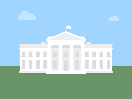 White House flat illustration. Modern vector icon.