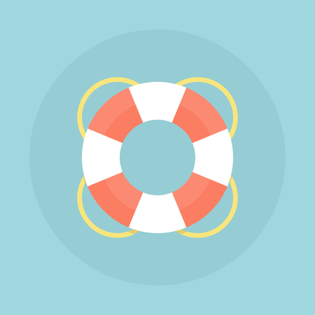 Lifebuoy vector flat illustration. 일러스트