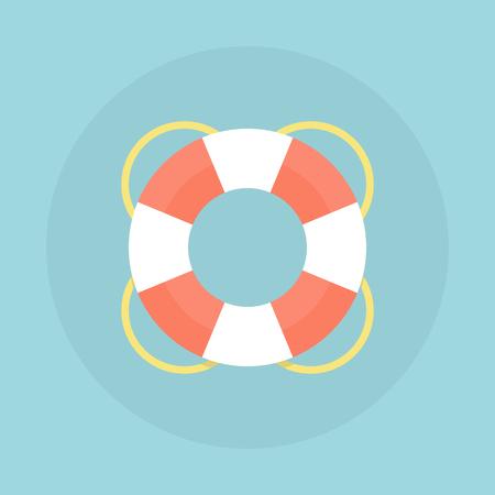 Lifebuoy vector flat illustration. Ilustrace
