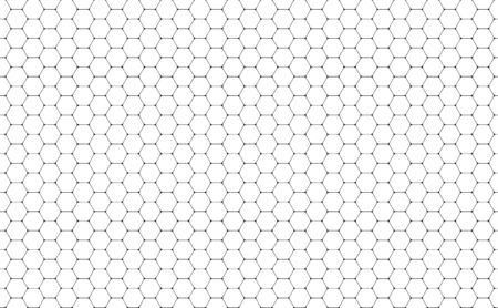 Vector Geometric background with Hexagons. Black and white geometric background. Reklamní fotografie - 83256652