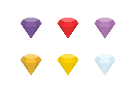 Gemstones vector flat icon