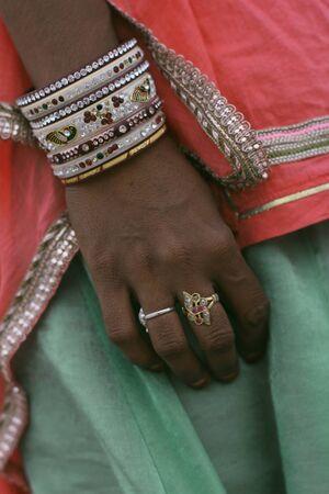 etnic: hand of Indian women Stock Photo
