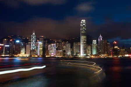 Night Scene in Hong Kong photo