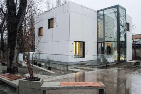 ecologic: Bucharest, Romania, 16 January: Very modern ecologic house in Bucharest.