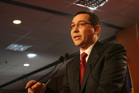 BUCHAREST, ROMANIA - February 20, 2010: Victor Ponta, speaks at the National Congress of Social Democrat Party (PSD).