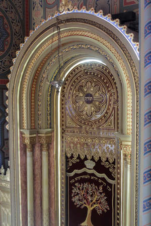 Bucharest, Romania, January 31, 2016: The interior of  the Coral Temple in Bucharest. Editorial