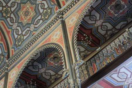 tora: Bucharest, Romania, January 31, 2016: The interior of  the Coral Temple in Bucharest. Editorial