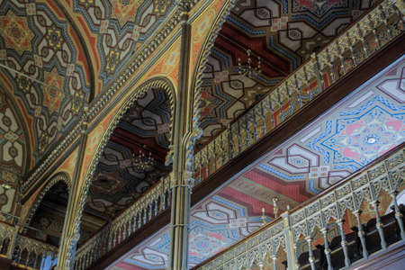 shool: Bucharest, Romania, January 31, 2016: The interior of the Coral Temple in Bucharest.
