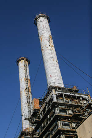 Bucharest, Romania, December 26, 2009: Thermoelectric plant against the blue sky. Editorial