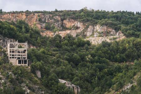 conveyors: Craciuneasa, Hunedoara county, Romania, September 6, 2009: Craciuneasa Dolomite mine in Hunedoara.
