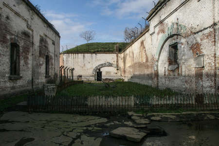 part prison: Jilava, Romania, November 2, 2009: Jilava was the location of a fort built by King Carol I of Romania, as part of the capitals defense system. At a later date, the fort was converted into a prison. The prison also was a detention site for political priso