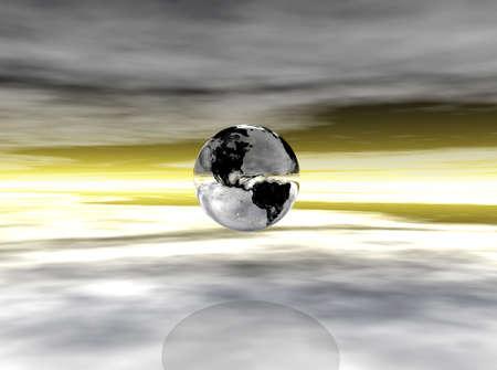 abstracto: Chrome Earth 3 Stock Photo