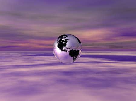 abstracto: Chrome Earth 4 Stock Photo