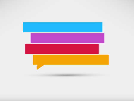 thinking bubble: speech bubbles banner Illustration