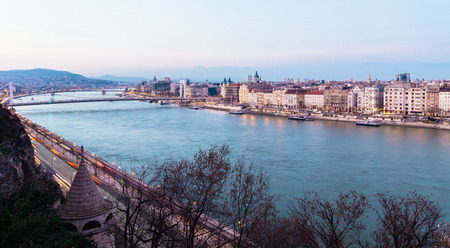 Budapest view and Danube River