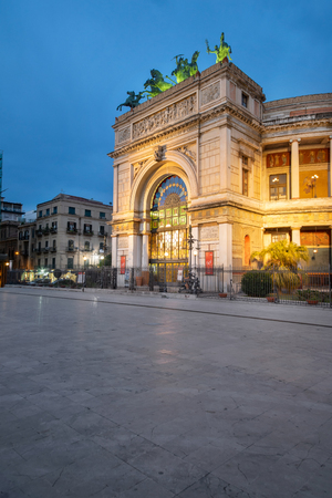 The Politeama Theatre is a theatre in Palermo. Located in the central Piazza Ruggero Settimo and represents the second most important theatre of the city after the Teatro Massimo. It houses the Orchestra Sinfonica Siciliana