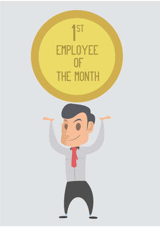 month: Employee of the Month Illustration Illustration