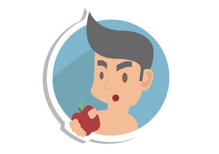 Adams Apple Vector Illustration