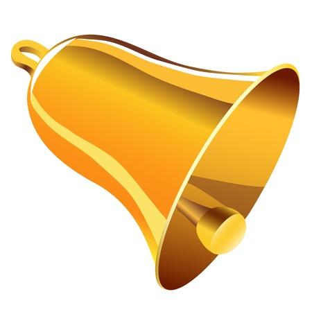 Golden bell 版權商用圖片 - 21316824
