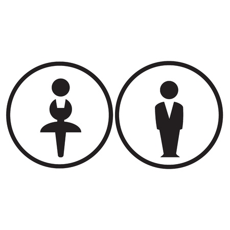 Man woman sign Vector
