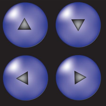 upward movements: Vector set of arrow button Illustration