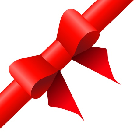 Gift red ribbon and bow Stock Vector - 21316858