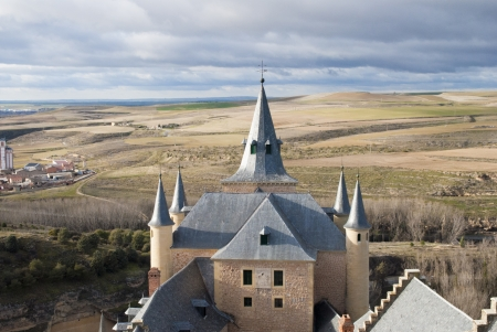 tapering: Peaky Roof - Segovia Stock Photo