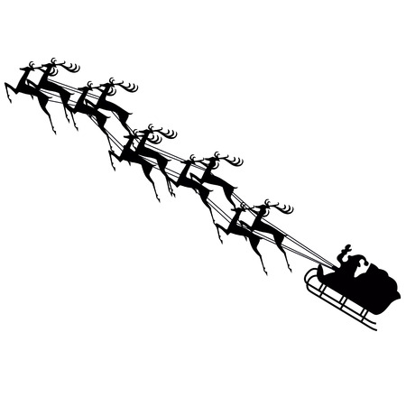 sprightly: Santa claus on sledge with deer
