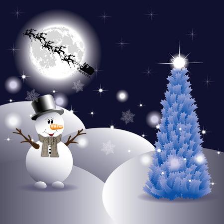blizzards: Snowman on Christmas night