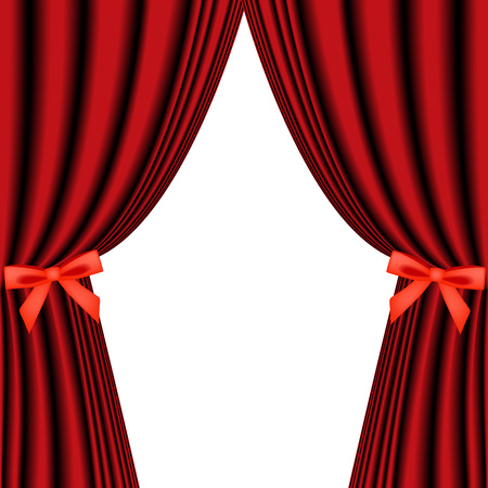 tableau curtains: red curtain isolated on white
