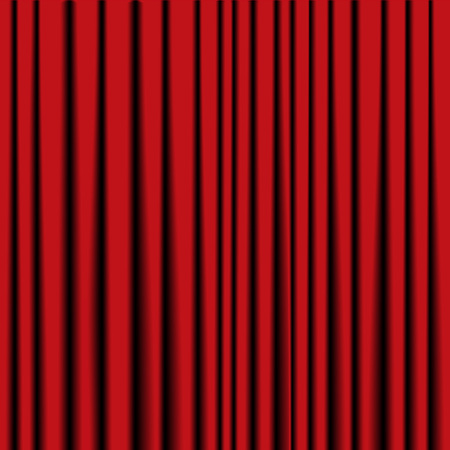 tableau: red theater curtain