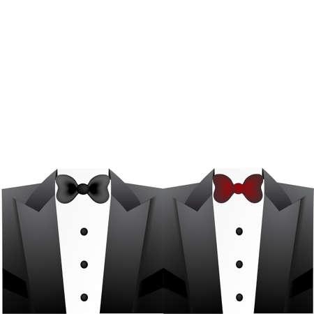solemn: Bow tie set Illustration
