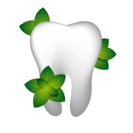 decayed: Tooth With Mint Illustration