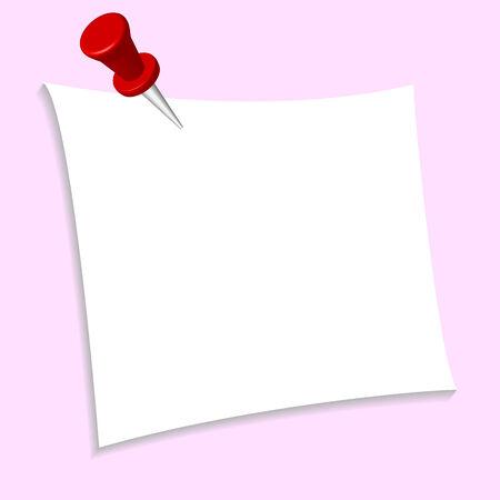 připínáček: Prázdný kus papíru s palcem připínáček