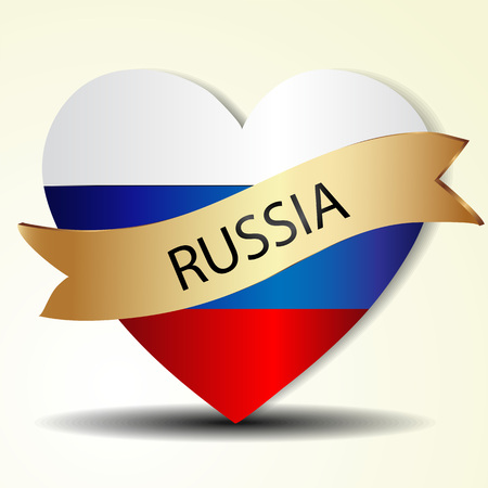 Heart of Russia Vector
