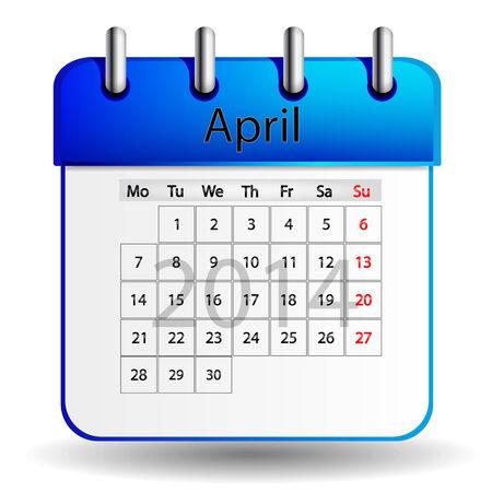 4월: 4 월 달력